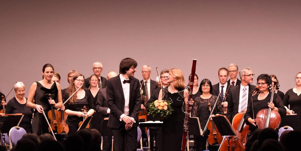 Valeria Curti nach dem Mozart Fagottkonzert mit der Sinfonia Baden