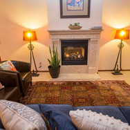 Sit back and enjoy the soft glow of the fire while you sip on your favorite glass of wine or aperitif!