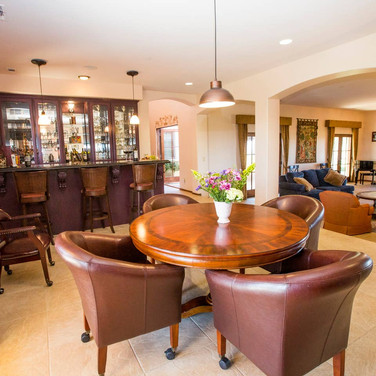 In the bar area you will find a surround sound system that fills the entire home with your favorite music.
