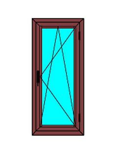 Cortizo pvc A70 abatible oscilobatiente, color, madera