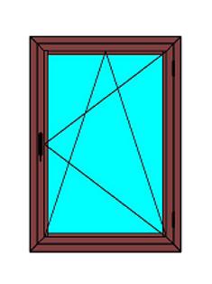 Cortizo pvc A70 abatible oscilobatiente, color madera