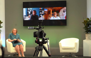 Studio TX conference with remote presenters
