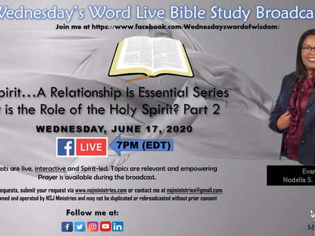 Wednesday's Word Live Bible Study Broadcast 6-17-20