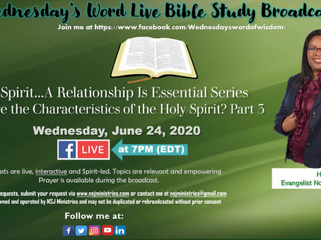 Wednesday's Word Live Bible Study Broadcast 6-24-20
