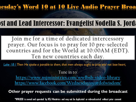 Wednesday's Word 10 at 10 Live Audio Prayer Broadcast