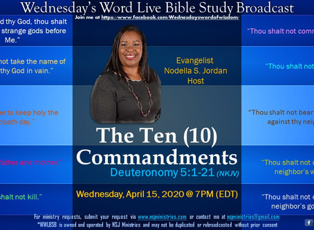 Wednesday's Word Live Bible Study Broadcast 4-15-20