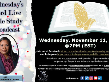 Wednesday's Word Live Bible Study Broadcast 11-11-20