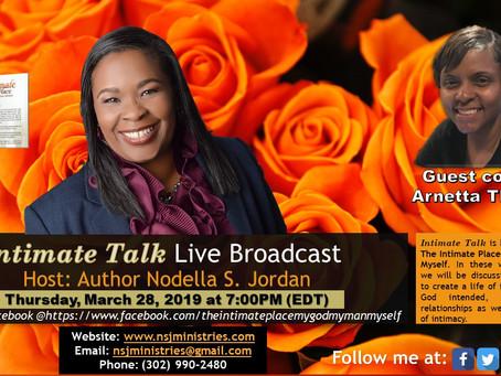 Intimate Talk Live Broadcast 3-28-2019