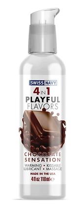 Lubricante con Sabor a Chocolate 4 EN 1 - Swiss Navy