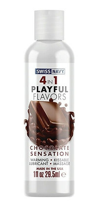Swiss Navy - Lubricante Sabor a Chocolate 4 en 1