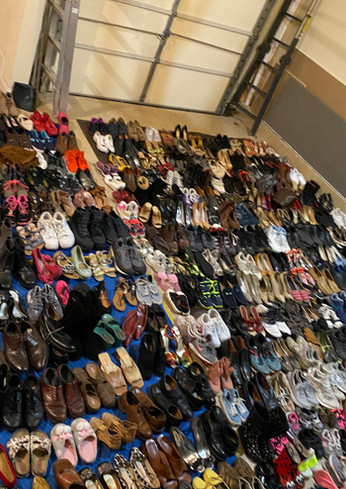 shoe drive more shoes from house.JPG