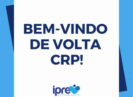 Bem-vindo de volta, CRP!