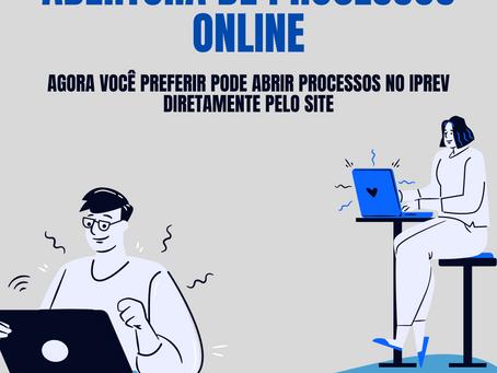 ABERTURA DE PROCESSOS ONLINE