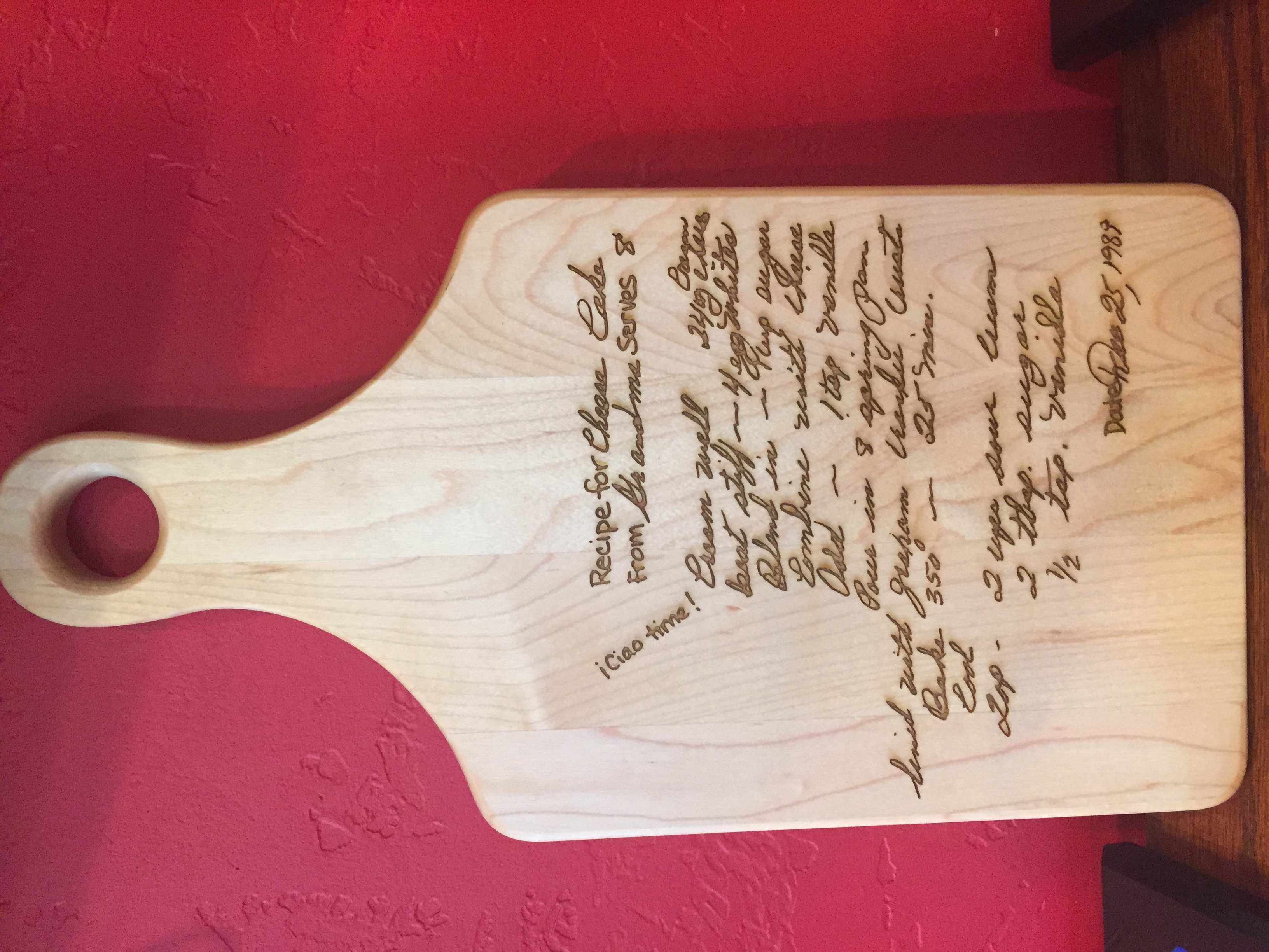 typed recipe cutting board - HD 2448×3264