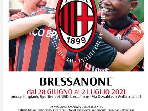 Milan Junior Camp dal 28 giugno al 2 luglio