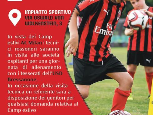 8 maggio: OPEN DAY Milan Junior Camp