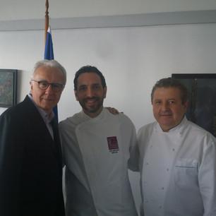 With Alain Ducasse & Laurent Suadeau