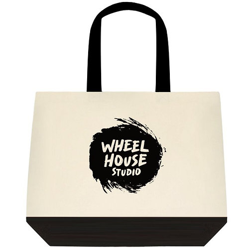 Two-Tone Cotton Tote Bags With Logo