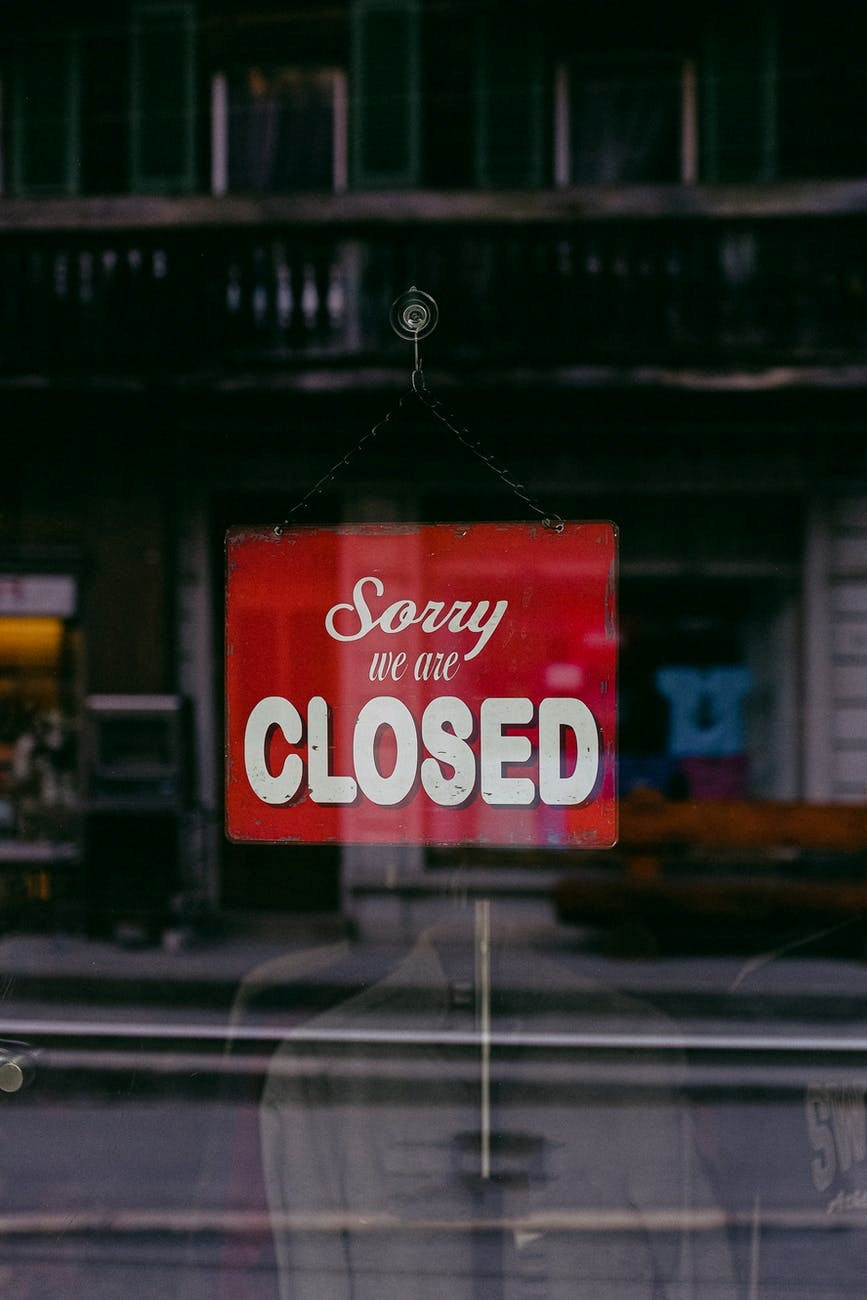 A physical location closed