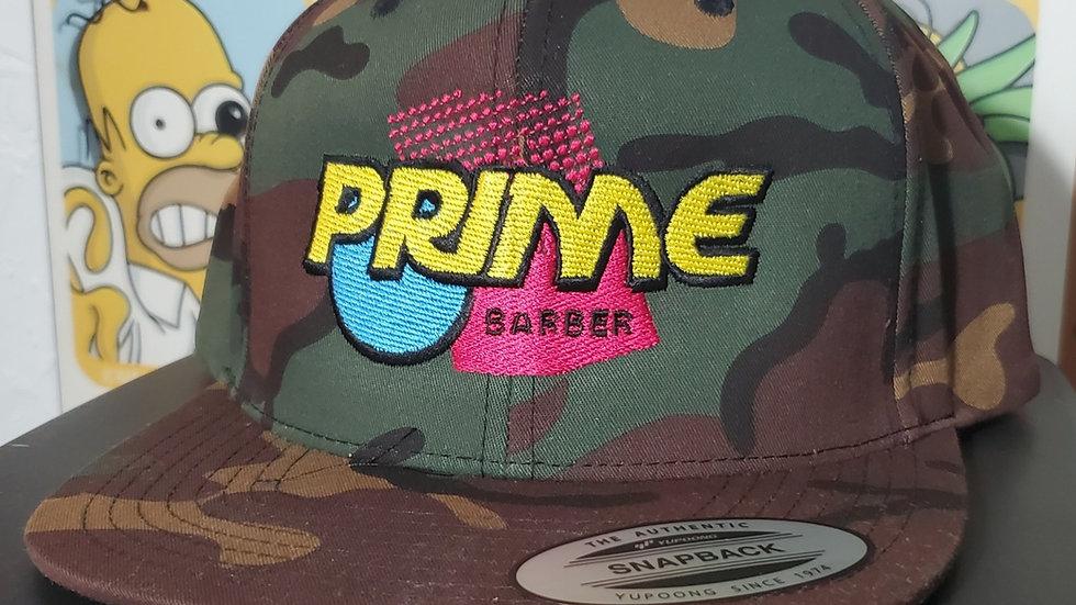 Camo PRIME SHOT flat brim snapback