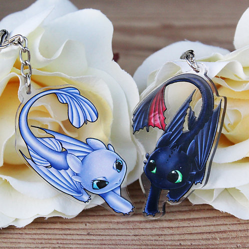 Acryl  Anhänger Dragon Couple