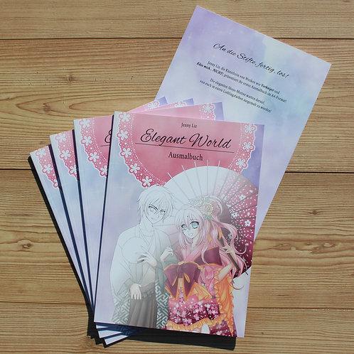 Ausmalbuch in A4  Elegant World