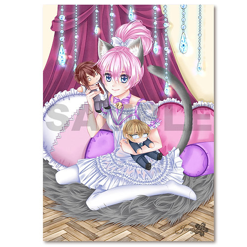 A3 Poster | Print  Catgirl Jasmin