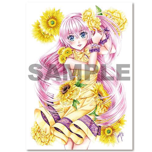Postkarte Blumengrüße Jasmin