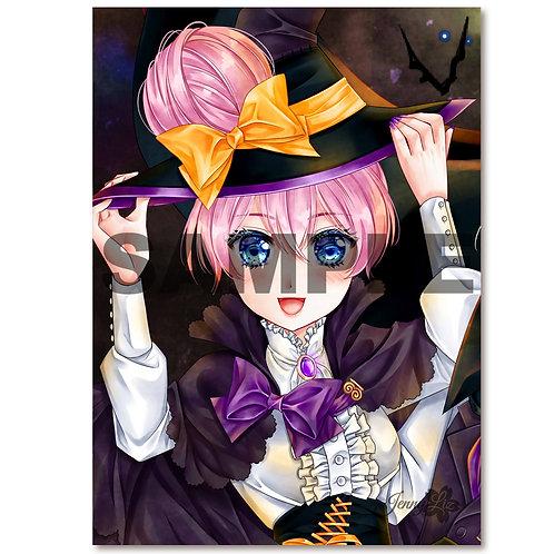Postkarte Küss mich... NICHT! Jasmin Halloweenversion