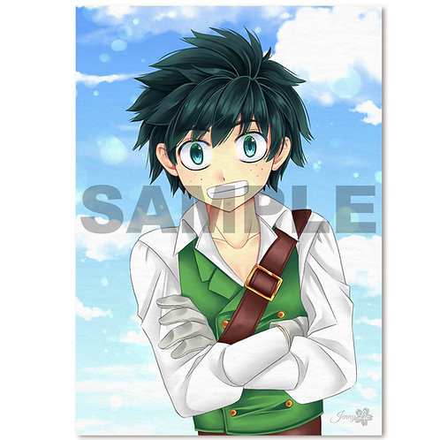 A4 Poster | Print Fantasy-Boy green
