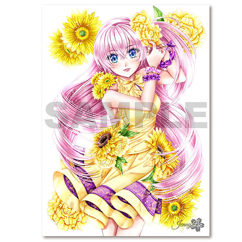 A3 Poster | Print Blumengrüße Jasmin