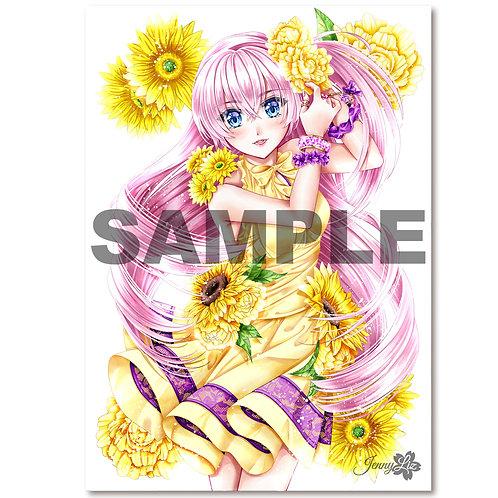 A4 Poster | Print  Blumengrüße Jasmin