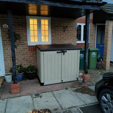 Garden furniture assembled