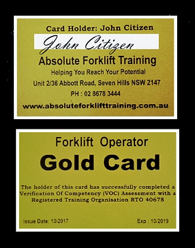 Gold Card Verification Of Competency Seven Hills NSW