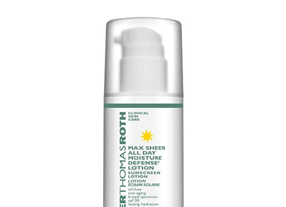 MAX SHEER ALL DAY MOISTURE DEFENSE LOTION SPF 30