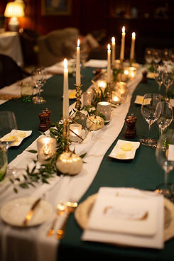 Jersey Autumnal Wedding Reception Decor
