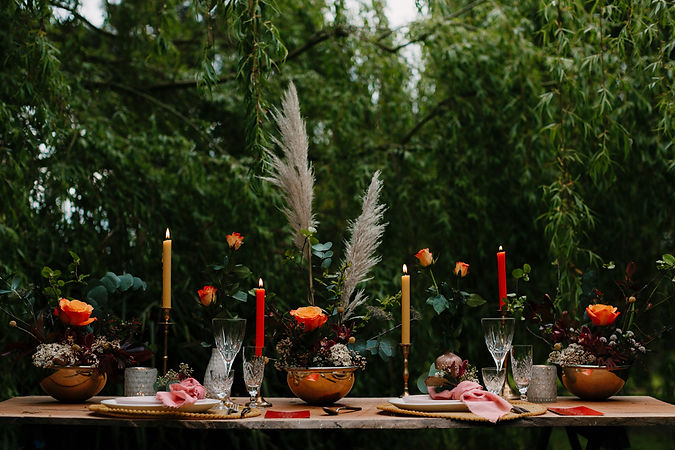 Elopement Table Setting