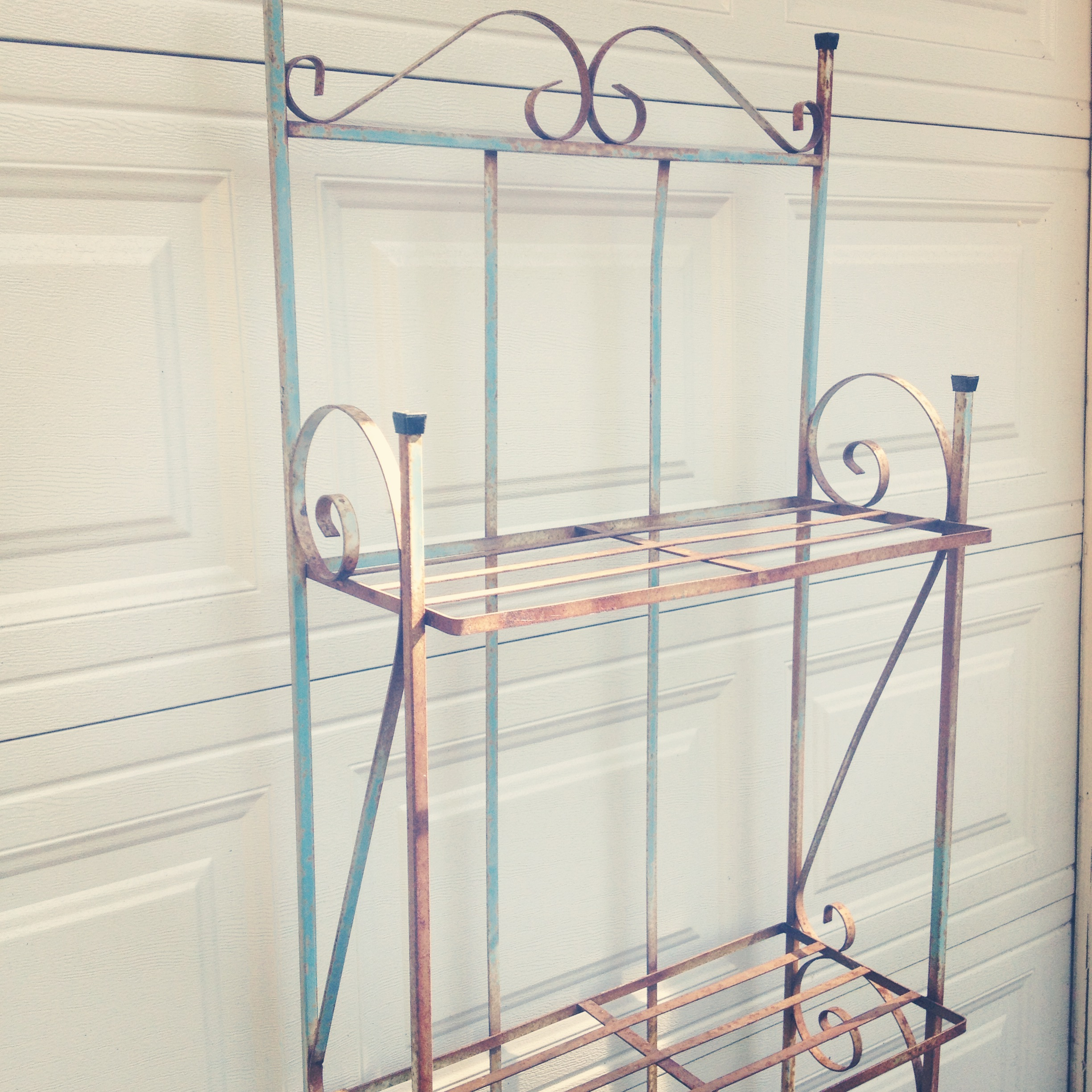 {Katy Blue Metal Shelf}
