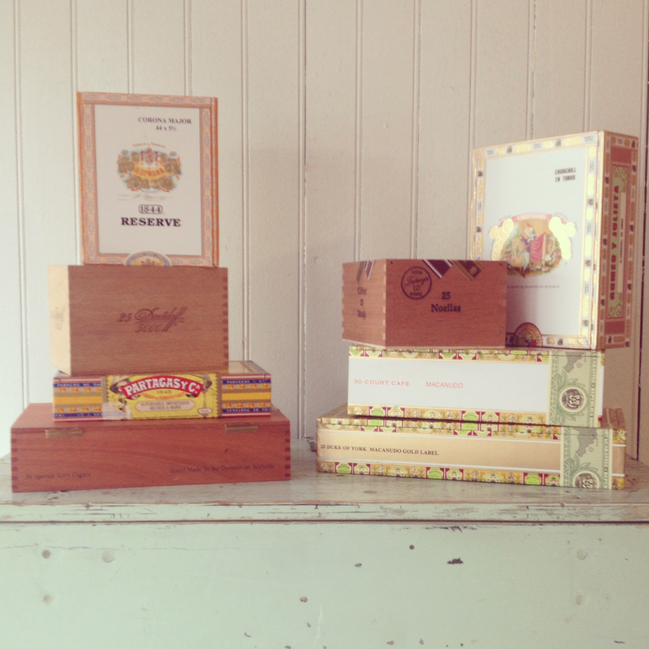 {Cigar Boxes - set of 3}