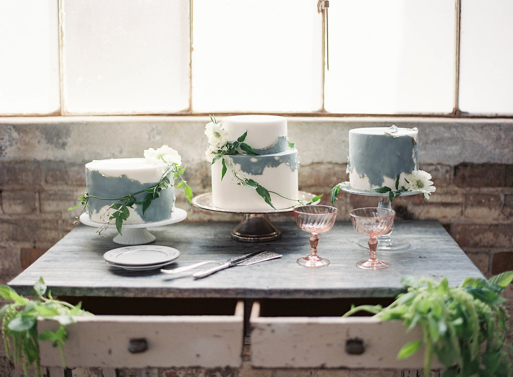 {Glass & Silver Cake Stands}