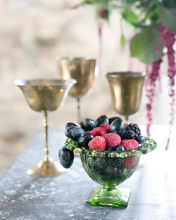 {Brass Champagne Coupes}