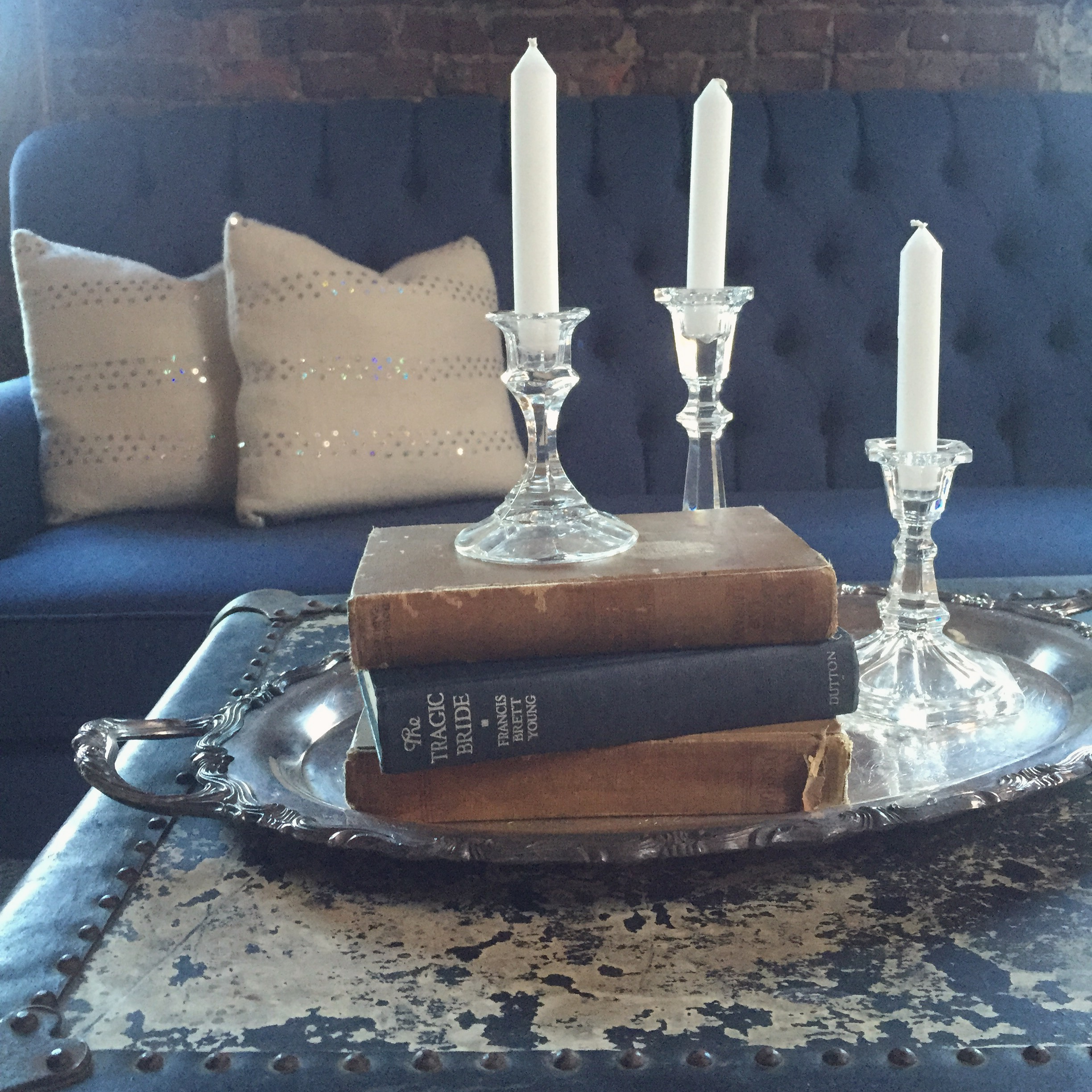 {Glass Candlesticks}
