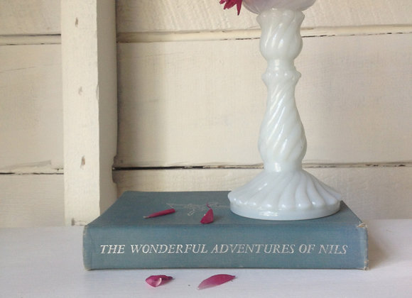 Milk Glass Candlestick
