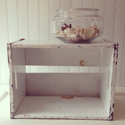{White Wooden Crate}
