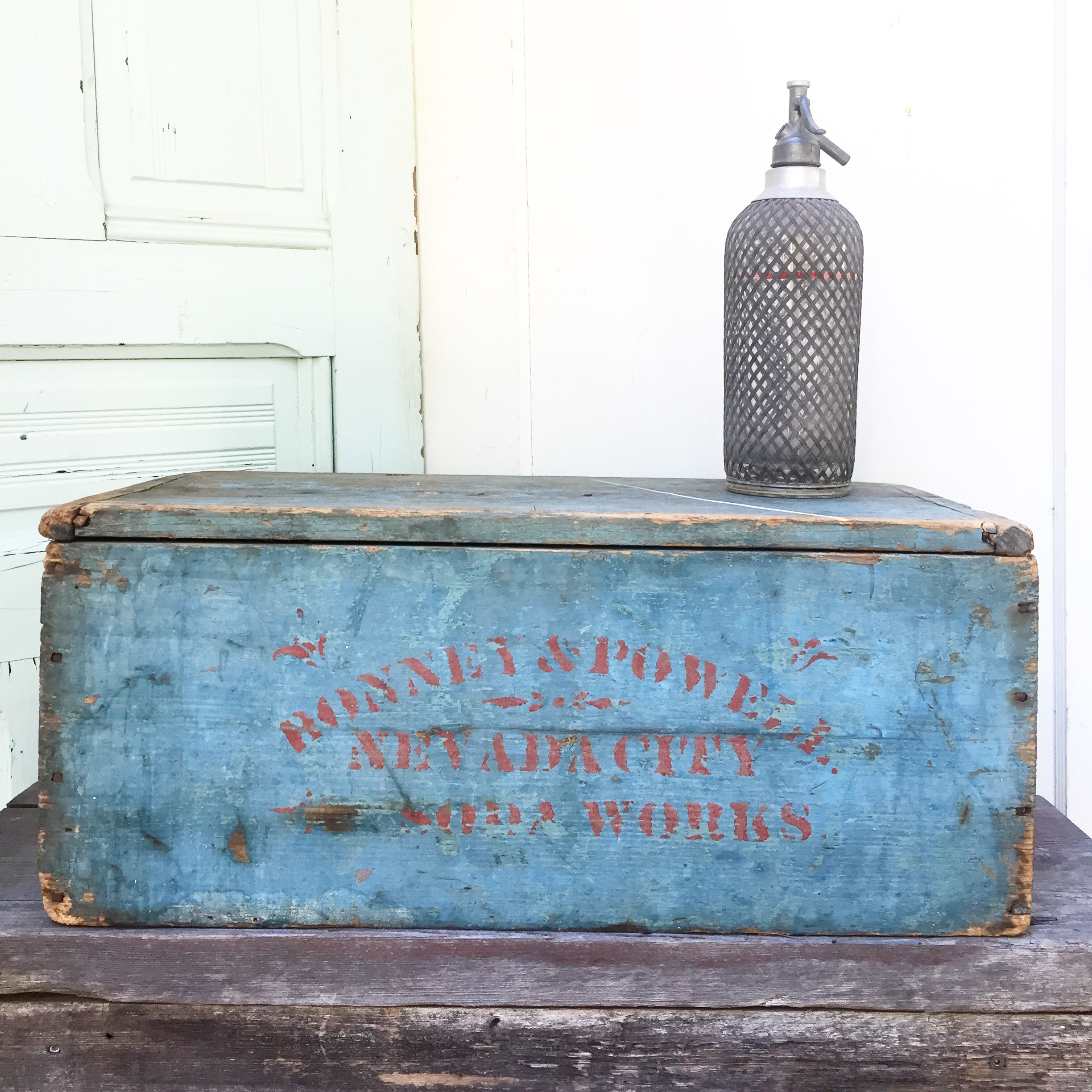 {Soda Works Wood Box}