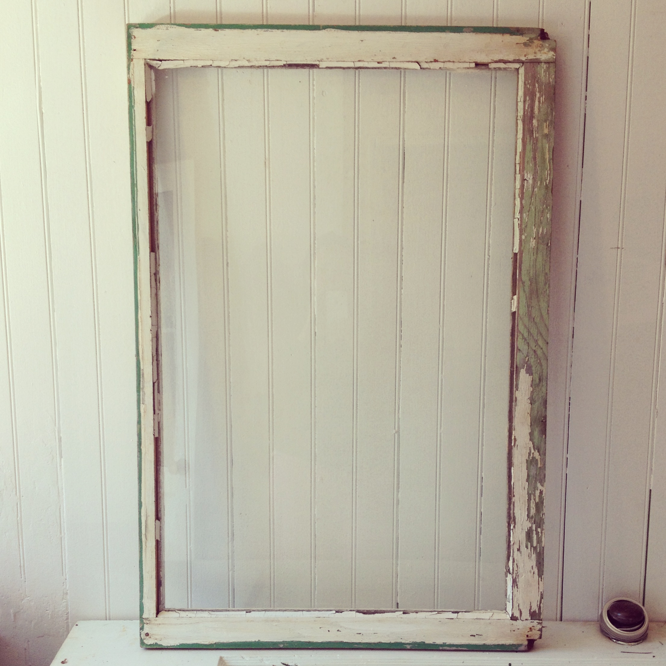 {Green Chippy Window Frame - back}
