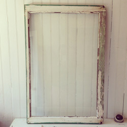 {Green Chippy Window Frame - back}