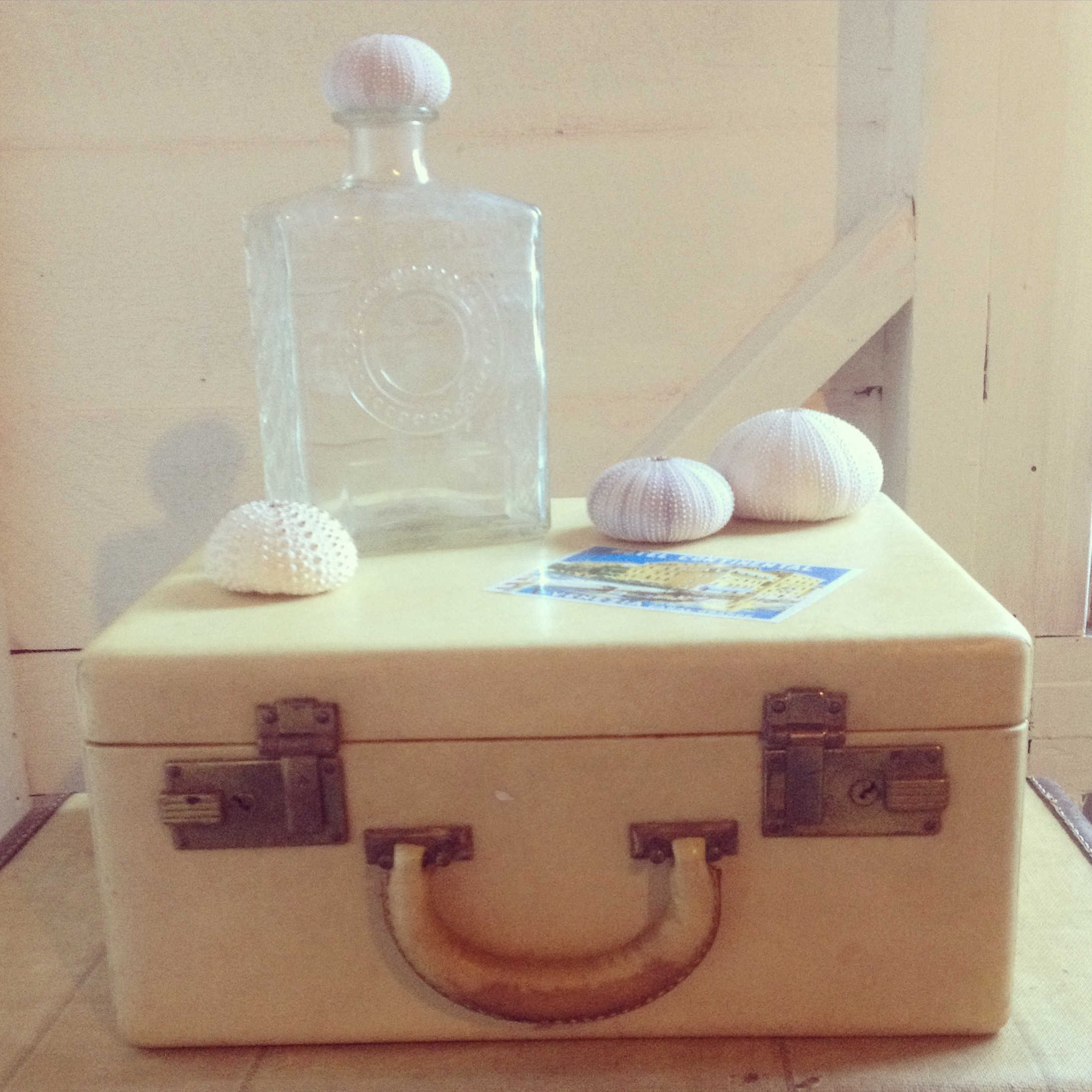 {Avery Cream Suitcase}