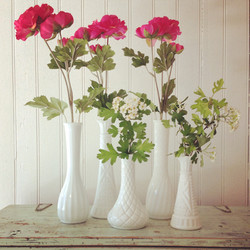 {Milk Glass Bud Vases}