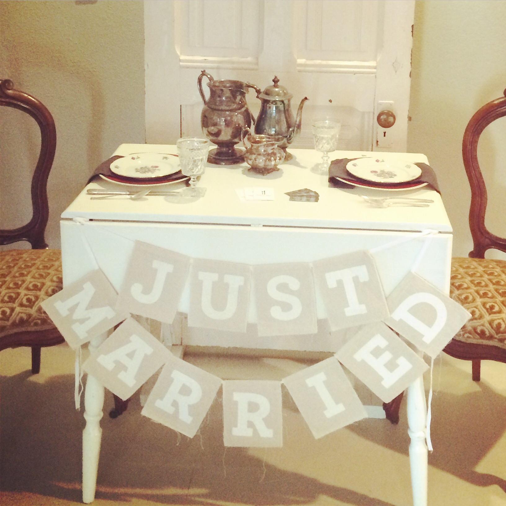 {JUST MARRIED Bunting Flags}